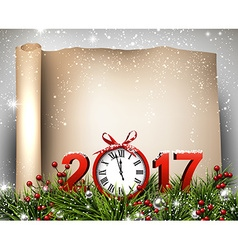 New year 2017 scroll background vector