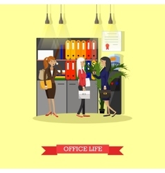 Office life concept flat style vector