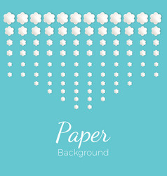 Paper background with flowers of different shapes vector