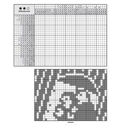 Picture logic puzzles japanese crossword vector
