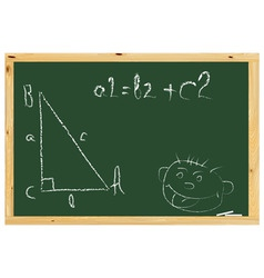 school board with the pythagorean theorem and pain vector image vector image