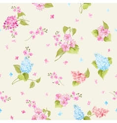 Seamless pattern of Syringa flowers vector image vector image