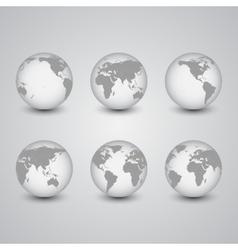 Set of globes World Map vector image