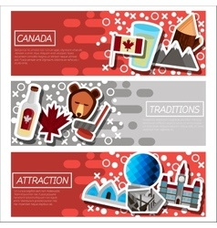 Set of Horizontal Banners about Canada vector image vector image