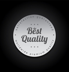 silver badge label theme vector image vector image