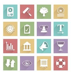 soft media icons set 5 vector image vector image