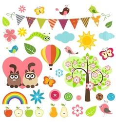 spring set vector image vector image