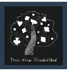 Tree from alice in wonderland vector