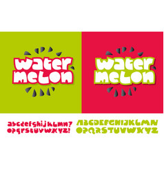 Watermelon text for print and web vector