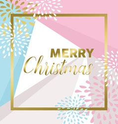 Gold Merry christmas design for greeting card vector image