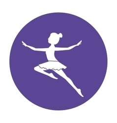 Isolated girl practice ballet design vector