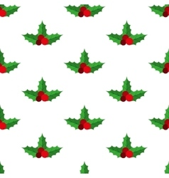 Holly berry pattern vector