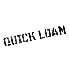 Quick loan rubber stamp vector