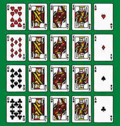 Four poker royal flush vector