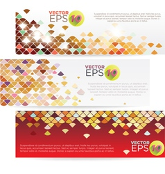 V 000078 colorful grid banner vector