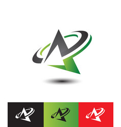 abstract initial letter a logo vector image