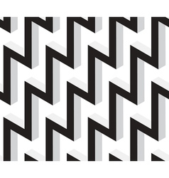 3d zig zag geometric seamless pattern vector
