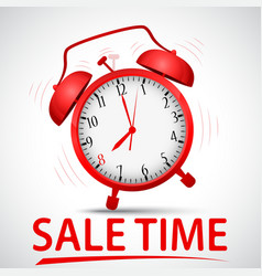Sale promotion with alarm clock vector