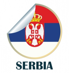 Serbia sticker vector