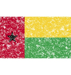 Flag of guinea-bissau with old texture vector
