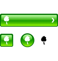 Tree button set vector