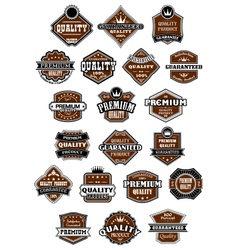 Vintage and retro wild west style labels vector image