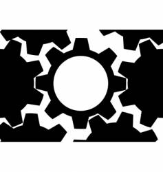 Technology gears background vector