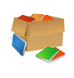 Books in box vector