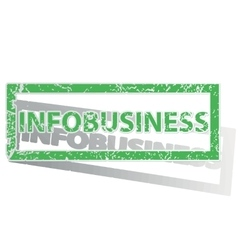 Green outlined infobusiness stamp vector