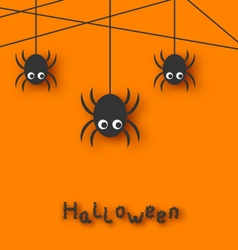 Spiders and Cobweb for Halloween vector image