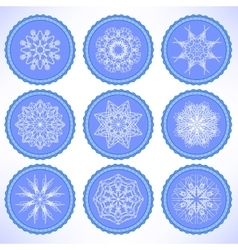 Winter snow labels vector