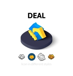Deal icon in different style vector
