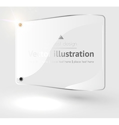 Clean white banner background vector
