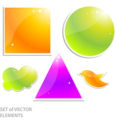 Shiny icon set vector