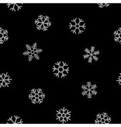 Seamless pattern of falling silver snowflakes vector image