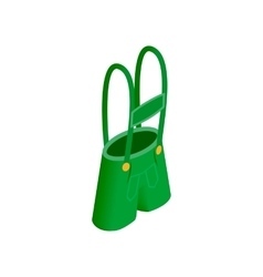 Short green pants of leprechaun sometric 3d icon vector