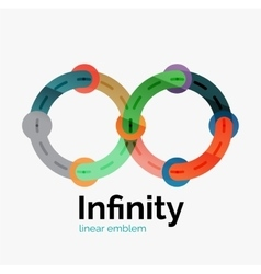 Infinity logo flat colorful design vector