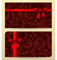 Gift card as present box vector