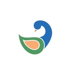 Duck modern logo design on a vector