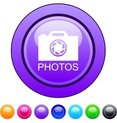 Photos circle button vector