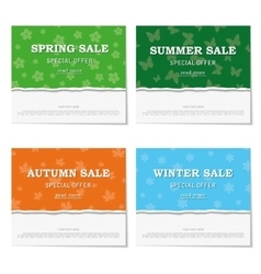 Set of seasonal posters for discounts vector