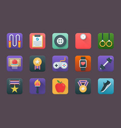 A pack of sports flat icons vector