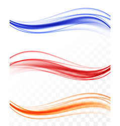Abstract elegant colorful light waves set vector