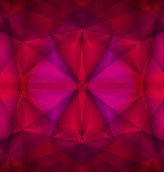Abstract geometrical red background vector image vector image