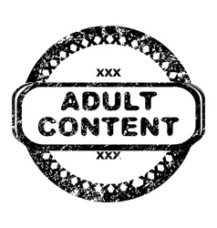 adult content vector image