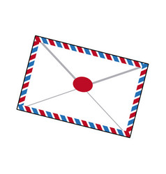 air mail envelope postal stamp letter symbol vector image