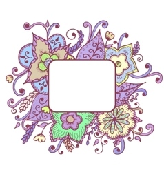 Artistic bright card with floral pattern vector