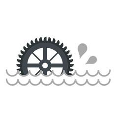Big waterwheel icon isolated vector
