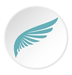 Blue wing icon flat style vector