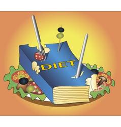 book diet vector image vector image